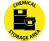 National Marker WFS19 Chemical Storage Area Walk On Floor Sign