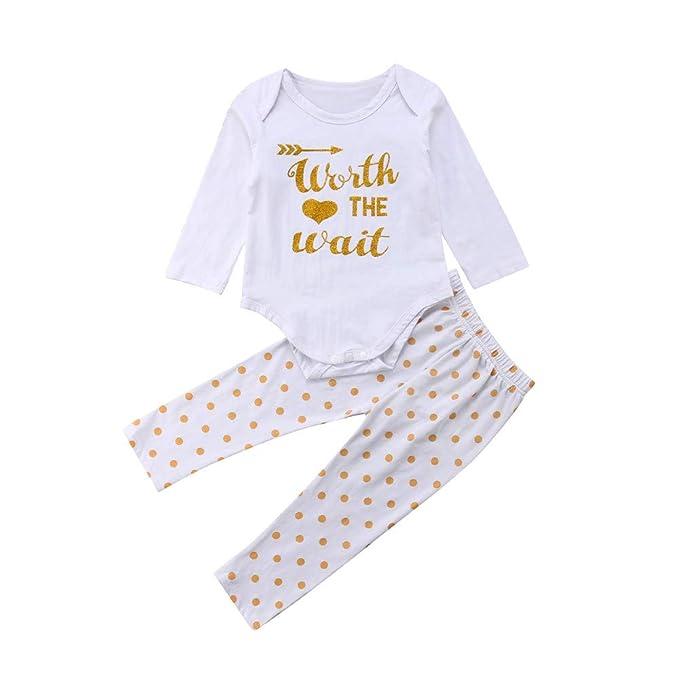 Conjuntos para Unisex Bebés Niñas Niños Otoño Invierno 2018 Moda PAOLIAN Camisetas de Monos + Pantalones