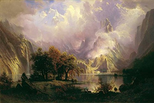 Wall Art Print Entitled Albert Bierstadt - Rocky Mountain Landscape, by Celestial Images | 48 x 32