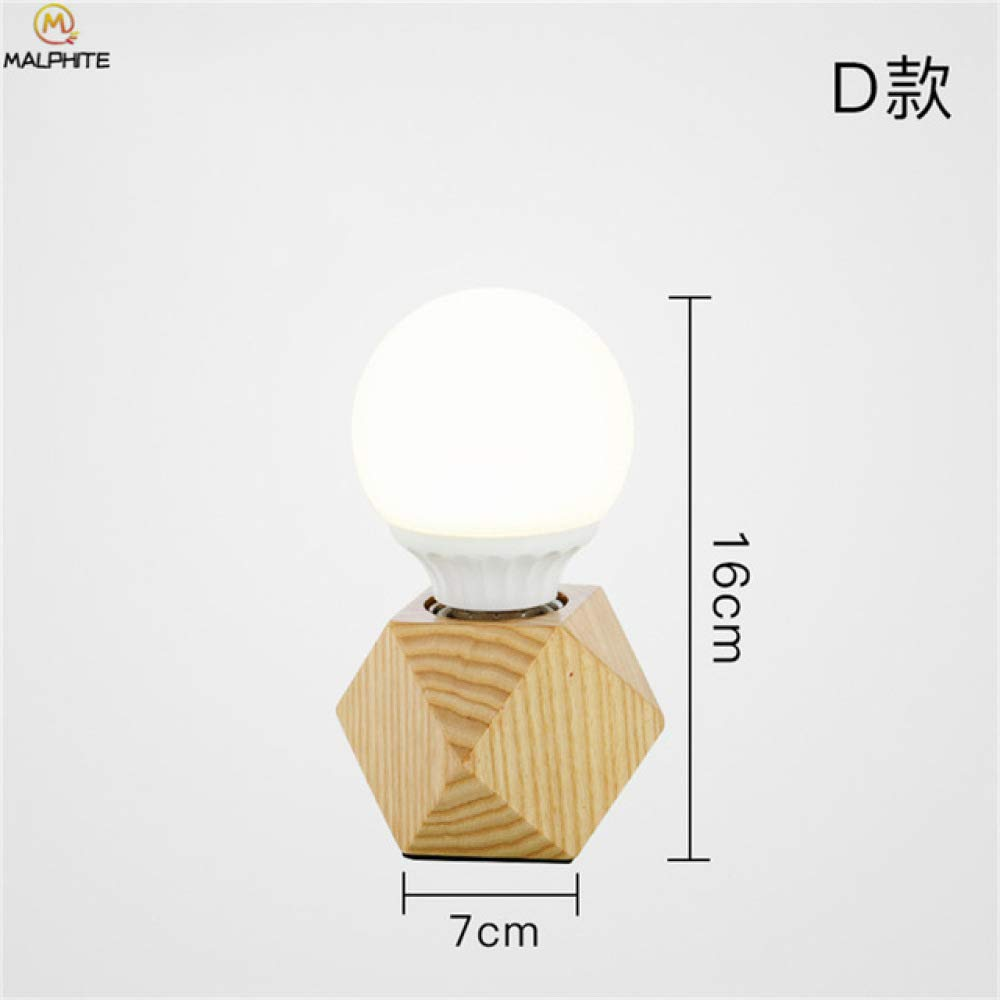 Lámpara de mesa de madera maciza moderna sala de estar dormitorio ...