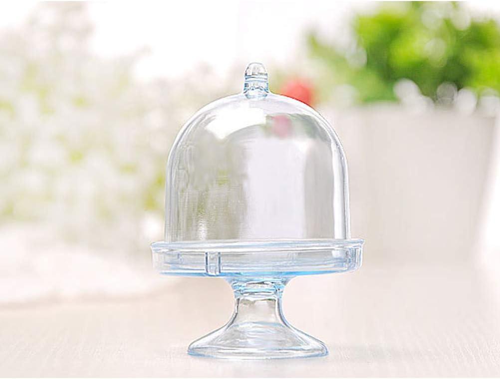 Mariage et f/ête Bleu Ciel Stabok Lot DE 12 Mini Cloches en Plastique avec Assiette