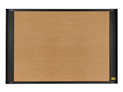 Post-it Sticky-Cork Board, Widescreen, Graphite-Finish, 24 x 36 Inches (A3624G)