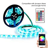 Tools & Hardware : YiHong LED Light Strip RGB Strip Lights LED Tape Lights Compatible with Alexa and Google Home 150 5050 SMD LEDs Smart WiFi Strip Lights
