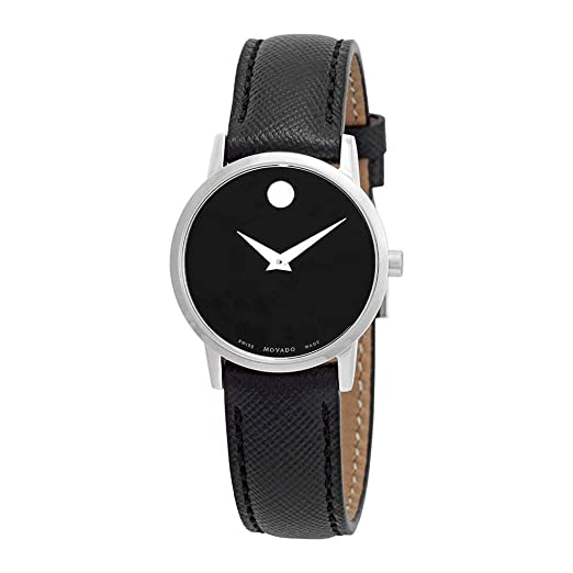 Movado Reloj de Mujer Cuarzo 28mm Correa de Cuero Caja de Acero 0607204: Amazon.es: Relojes