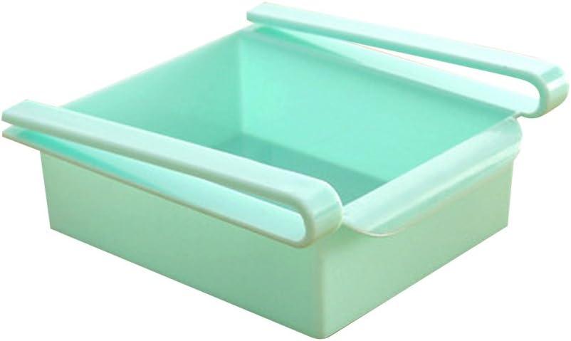 Klemm-Schublade f/ür K/ühlschrank Blau 15,5 * 16,5 * 7cm transparent Schublade Aufbewahrungsbox K/ühlschrankbox Schublade Aufbewahrungskiste Gem/üsefach