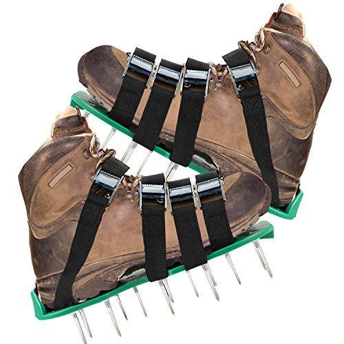 KedsHome Lawn Aerator Shoes 4 Metal Buckles and Adjustable Straps