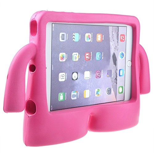 Lioeo iPad Mini Case for Kids iPad mini 4 Case with Handle Stand Shock Proof Cover Lightweight EVA Foam Protective Cases and Covers for Apple iPad Mini 4 3 2 1 7.9 inch (Hot Pink) by Lioeo (Image #9)