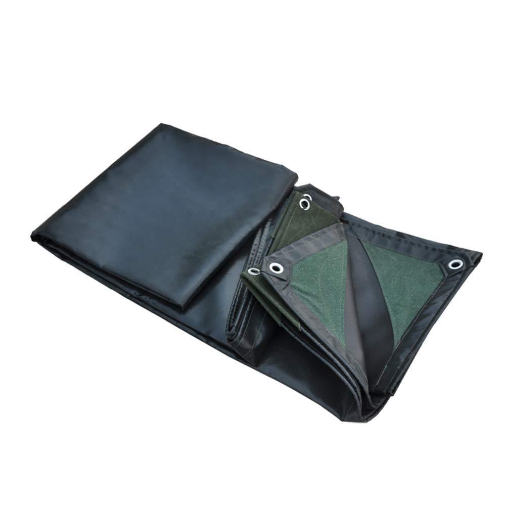 Tarpaulin - 厚くて頑丈なスーパー防水、亜鉛メッキグロメット、強くて丈夫、ブラック FENGMIMG (色 : ブラック, サイズ さいず : 5x6M) 5x6M ブラック B07QSVYXXG