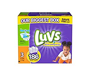 Amazon.com: luvs diapers size 3, 186 count: Health & Personal Care