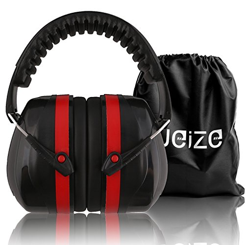 Weize Safety Ear Muffs Shooters Hearing Protection Folding-Padded Head Band Ear Defenders for Hunting Mowing Drilling (Certified S3.19 & EN352)