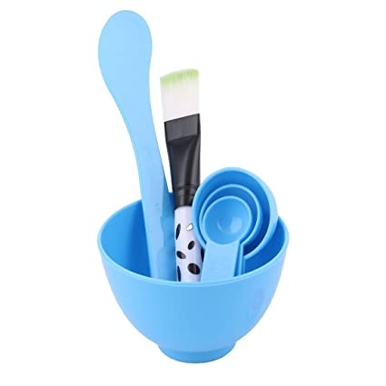 Unique Bargains Unique Bargains 2 in 1 DIY Mask Mixing Bowl Stick Bowl Set Blue for Woman Retinol Anti Wrinkle Facial Serum for Men 1 oz (Pack of 2)