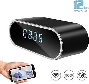 DareTang HD 1080P WiFi Hidden Camera Alarm Clock Night Vision/Motion Detection/Loop Recording Home Surveillance Cameras Video Camera