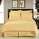''Fit for Royalty'' wrinkle free Full Size Bed in a Bag set; Silky soft microfiber for a rich slumber; Crisp Gold color for any room reno style