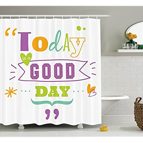 Favorite Fabric Shower Curtains with Words: Amazon.com FE49