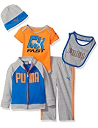 PUMA baby-boys Baby 5 Piece Hoodie Set