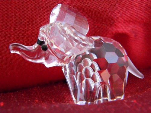 Swarovski Crystal Elephant - Swarovski Silver Crystal Baby Elephant (Medium) 7640