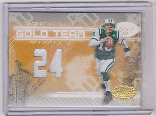 2005 Leaf Certified Chad Pennington Jets 60/75 Game Used Jersey Insert Football Card #GT-7