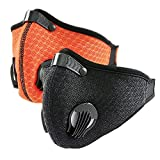 2 Pack Dust Mask Respirators, Reusable Anti Pollution N95 Carbon Filters Face Mouth Masks for Pollen Allergy Smoke, Light Breathable Mesh Material, Ideal for Woodworking Mowing Outdoor Work, BO