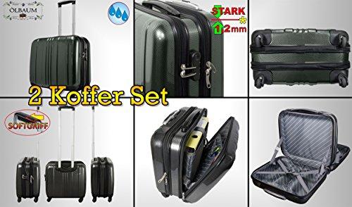2 x Trolley pilota + manico + Borsa ruote, nero nobile argento, PREMIUM valigetta da pilota-offerta supporto un'ampia, grande con 4 ruote, spazioso valigetta con scivolo classificazione.