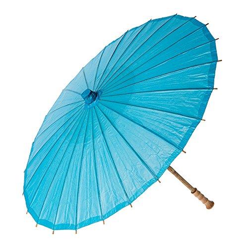 Bazaar Paper Parasol 20 Inch Turquoise