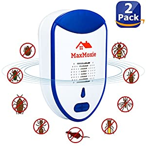 Ultrasonic Pest Repeller Humane Mice Control Newest Electronic Insect Repellent 2 Pack Easiest Way TO Reject Rodent Bed Bug Mosquito Fly Cockroach Spider Rat Home Animal No Kill Plug In