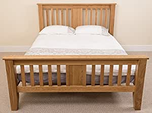 Boston 4ft 6 Solid Oak Double Bed Frame (211 x 149 x 110 cm) Bedroom Furniture by OAK FURNITURE KING