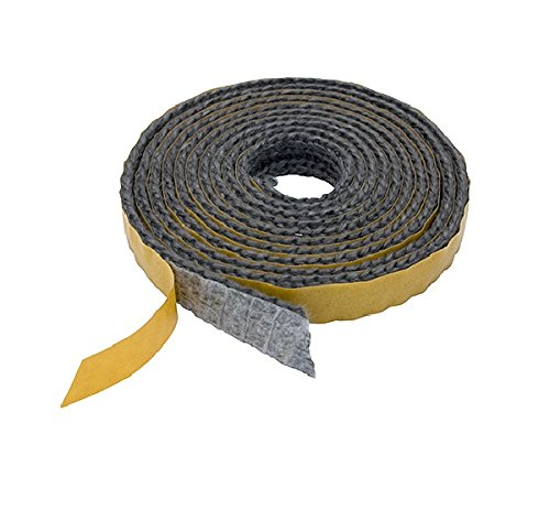 Pyrojoints 501, Flat Tape, self-Adhesive, Black, 2 mm x 6 mm, per metre
