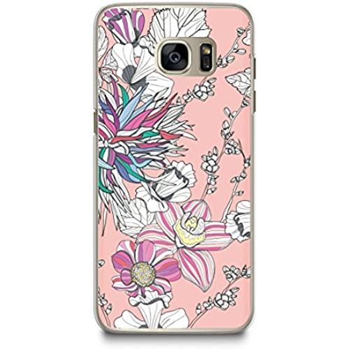 Case for Samsung S7, CasesByLorraine Abstract Floral Pattern Case Plastic Hard Cover for Samsung Galaxy S7 (P21) Sales