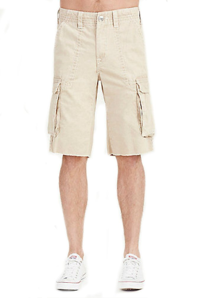 True Religion Men's Big T Cargo Short (29, Praline)