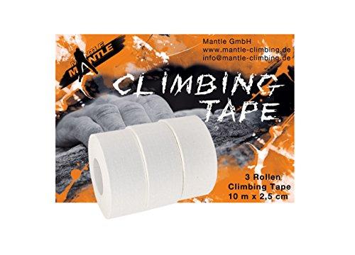 Mantle Kletterzubehör Climbing Tape 3 Stück, Weiß, M, 200203