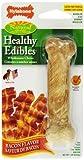 Nylabone Healthy Edibles Regular Bacon Flavored Dog Treat Bone With Vitamins