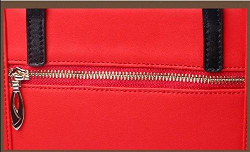 cm negro Bolsa Multifunción 23 Capacidad de de Cuero 32 Piel Colores de WDBB Mano cm Bolso Diagonal de Rojo Tres Gran x q1wzcavPf