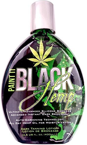 Paint It Black Hemp Indoor Tanning Bed Lotion w/ Dark Bronzer By Millennium Tans