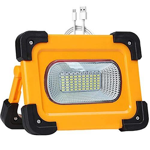 WOERD LED Baustrahler 60W, LED Solar Arbeitsleuchte Wiederaufladbar, Arbeitsscheinwerfer Wasserdich 4 Modi Campinglampe…