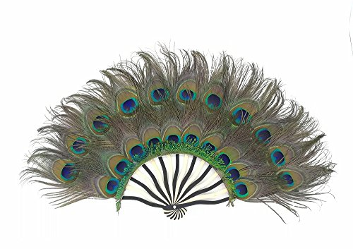 Natural Unfolded Peacock Eyes Feather Fan Handheld Decorative Burlesque Dancing Fan Include Fan Stand For Elegant Wedding Bridesmaid Bouquet Favor Office Home Bedroom Wall Table Decor