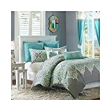 Madison Park MP10-1331 Nisha 5 Piece Comforter Set, Twin, Teal by Madison Park
