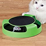 sea-junop Cute Cat Toy Tray Catch The Mouse Moving Play