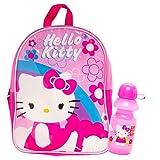 "Hello Kitty Preschool Backpack Toddler (11"") with Hello Kitty Water Bottle (School Supplies Set)"