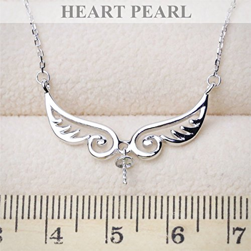 (s925 sterling silver necklace pendant pendant mountings semi-natural pearl angel DIY only fitting)