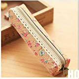 forone Floral Lace Pouch Cosmetic Pen Bag Makeup Pencil Holder