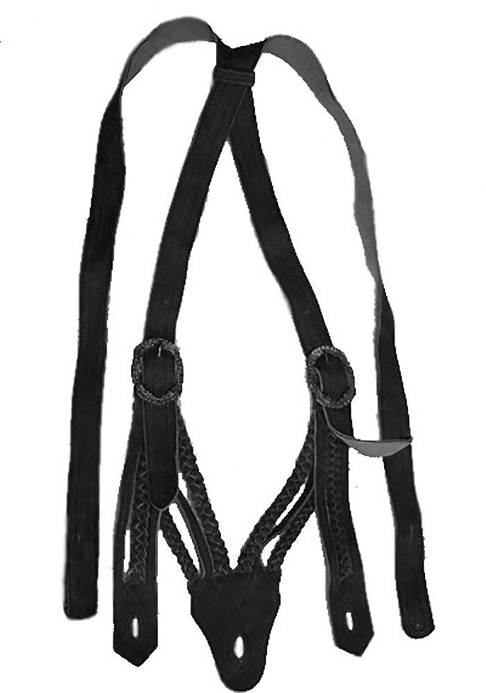 Trachten lederhosen-Hosenträgern Norweger Hosenträger V-Träger Schwarz