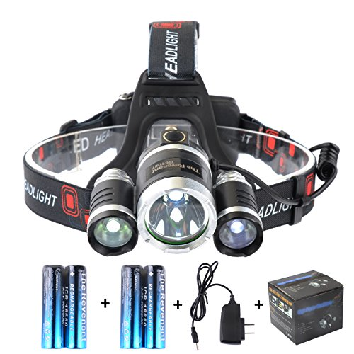 The Revenant Super Bright LED Headlamp 4 Modes 3 CREE XM-L T6 Waterproof & Lightweight Camping Outdoor Sports Headlight