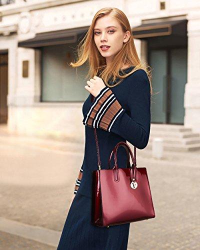 de bolsos Rojo Coolives línea diseñador de venta bolsos damas la en mujeres charol a para Vino wIwq4xZn51