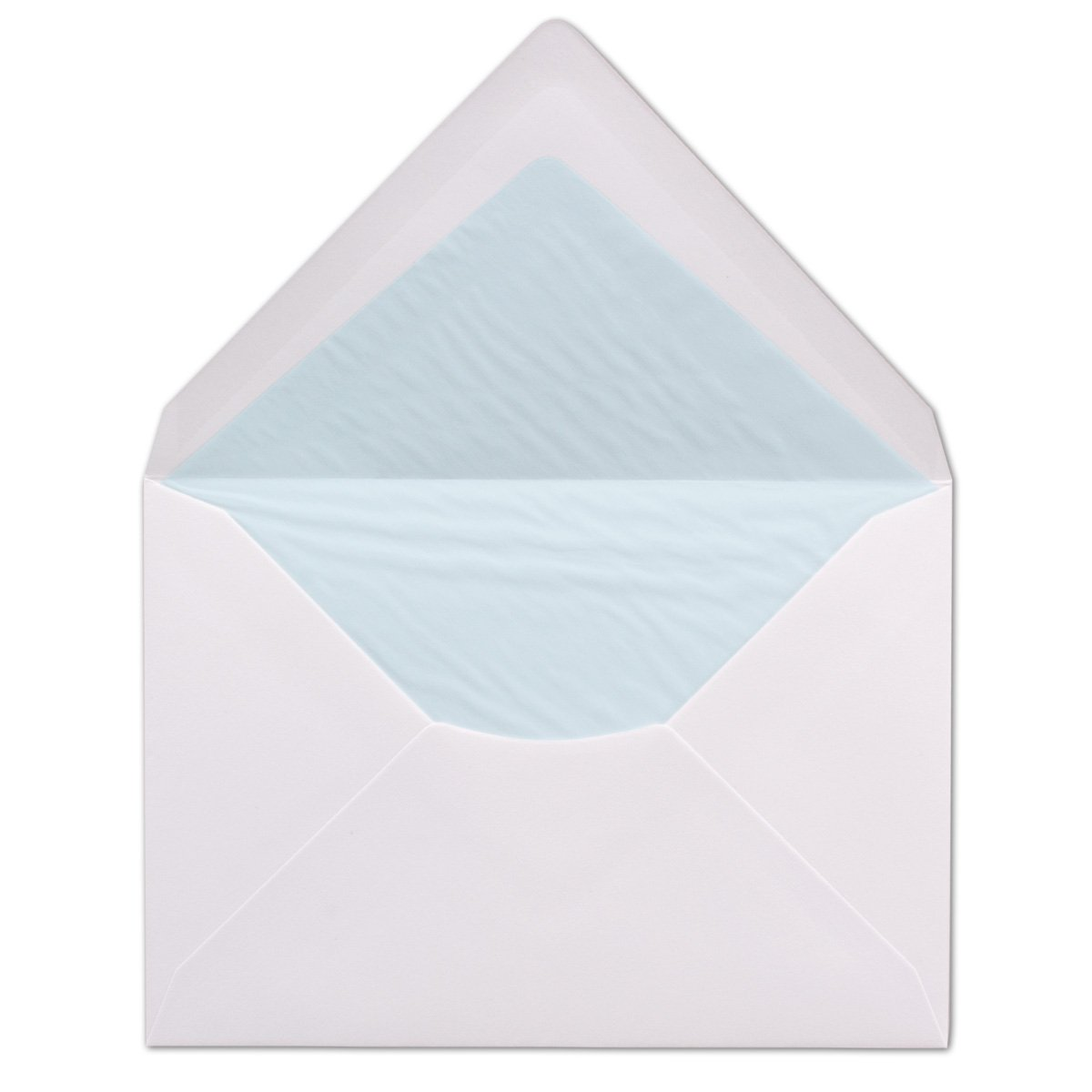 114 mm x 162 mm 100 100 g//m² White Envelopes DIN C6 Lined with Tissue Paper