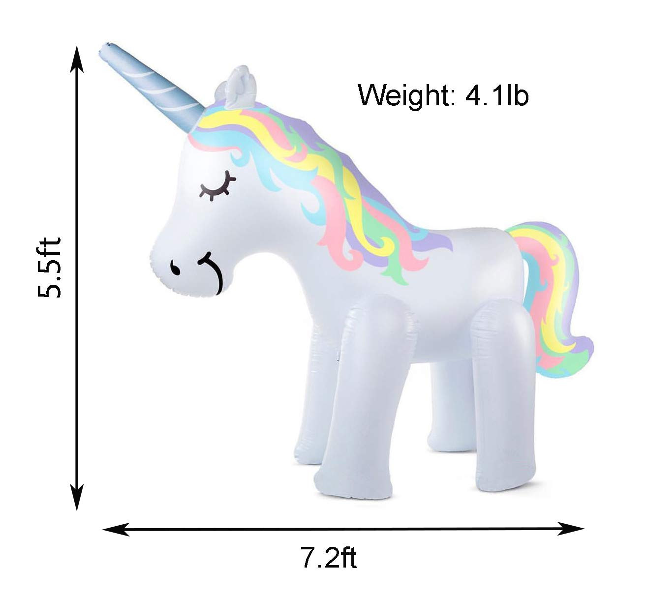 Kimi House Giant Inflatable Unicorn Sprinkler with Over 4.8 Feet Tall, 6.6Feet Long, Water Toys, Yard Summer Sprinkler… 4