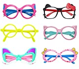 Glasses for Children Kids Boys Girls Stylish Cute Frame Without Lenses, Pack of 6 (Combo #3)