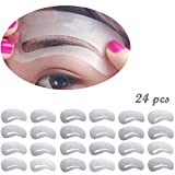 Image of KINGMAS 24 pcs Eyebrow Stencils Reusable Eyebrow Drawing Guide Card Brow Template DIY Makeup Tools