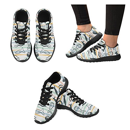 Floral Pattern 6 Size Athletic Sneakers Running Butterflies On Casual Shoes InterestPrint 15 Women's US Lightweight Print SqgRSa