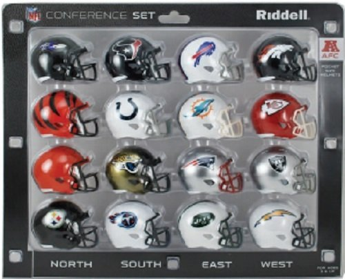 NFL AFC 16-Piece Conference Pocket Size Helmet Set by Riddell