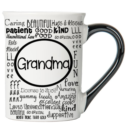 Cottage Creek Grandma Mug Large 18 Ounce Ceramic Grandma Coffee Mug/Grandma Gifts [White]